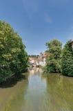 Ross Neckar Canal in Esslingen am Neckar, Germany stock photo