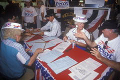 Ross Perot for President petition drive and voter registration, CA Stock Image