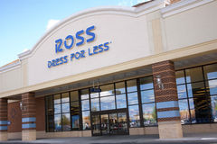 Ross Stores. Store front and sign for clothing discount store Ross Stock Image