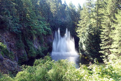 Ross waterfall. Picture of Ross waterfall, at Butchart gardens, Victoria,British Columbia,Canada Stock Photo