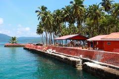 Ross wyspa, Andamans, India Zdjęcia Stock