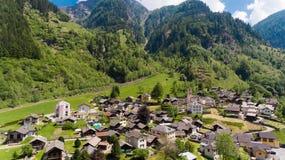 Rossa鸟瞰图在瑞士 免版税库存照片