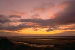 Rossall plaża w Listopadzie zdjęcia royalty free