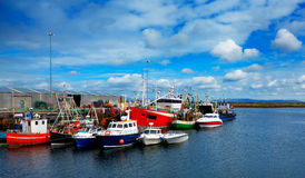 Rossaveel harbour Stock Image