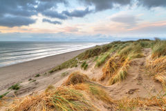 Rossbeigh dunes at sunset Stock Photos