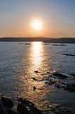 Rosscarbery Bay. View of sunset from cliffs overlooking Rosscarbery Bay, West Cork, Ireland Stock Images