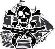 Rossed Knochen der Piraterie Lieferung Lizenzfreie Stockbilder