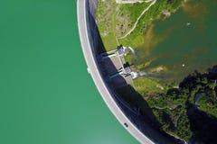 Rossens水坝,瑞士 免版税库存图片