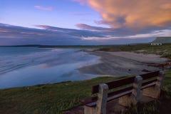 Rosses-Punktstrand bei Sonnenuntergang, Co Sligo, Irland lizenzfreies stockfoto