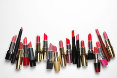 Rossetti cosmetici variopinti messi Immagine Stock