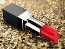 Rossetto rosso Fotografie Stock