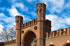 Rossgarten Gate - fort of Koenigsberg. Kaliningrad (before 1946 Koenigsberg), Russia. Rossgarten Gate - fortified strengthening of Koenigsberg. Kaliningrad ( royalty free stock photos