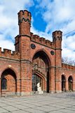 Rossgarten Gate - fort of Koenigsberg. Kaliningrad (until 1946 Koenigsberg), Russia Stock Images