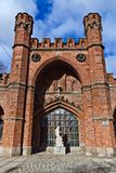Rossgarten Gate - fort of Koenigsberg. Kaliningrad (until 1946 Konigsberg), Russia Royalty Free Stock Images