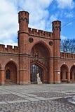 Rossgarten port - fort av Koenigsberg. Kaliningrad (till Konigsberg 1946), Ryssland royaltyfri bild