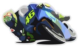 Rossi auf Fahrrad Stockbild