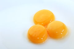 Rossi d'uovo Immagini Stock Libere da Diritti