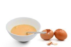 Rossi d'uovo battuti Fotografie Stock Libere da Diritti