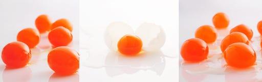 Rossi d'uovo salati Fotografia Stock