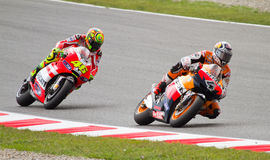 Rossi and Dovizioso Royalty Free Stock Photography