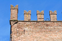 Rossi Fortress of San Secondo Parmense. Royalty Free Stock Photo