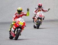 Rossi och Simoncelli Royaltyfria Bilder
