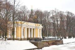 Rossi Pavilion in Mikhailovsky Garden. Royalty Free Stock Photo