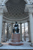 Rossi Pavilion in Winter Pavlovsk Royalty Free Stock Photo
