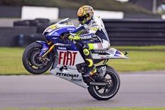 Rossi van Valentino wheelie Royalty-vrije Stock Afbeelding