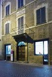 Rossini hus i Pesaro, Italien Arkivbilder