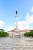 Rossio广场,里斯本 免版税库存照片