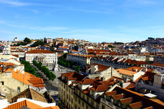 Rossio, Λισσαβώνα, Πορτογαλία Στοκ εικόνες με δικαίωμα ελεύθερης χρήσης
