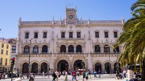 Rossio Bahnhof, Lissabon Lizenzfreie Stockfotos