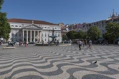 Τετράγωνο Rossio (DOM Pedro IV), Λισσαβώνα Στοκ εικόνες με δικαίωμα ελεύθερης χρήσης