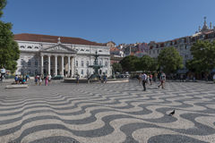 Rossio ( Dom Pedro IV ) Square, Lisbon Royalty Free Stock Images