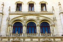 Rossio drevstation, Lisbon, Portugal Arkivfoto