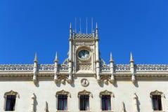 Rossio drevstation, Lissabon, Portugal Arkivbild