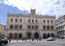 Rossio drevstation - Lissabon stad arkivfoto