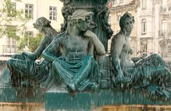 Rossio Fountain Detail Stock Photo