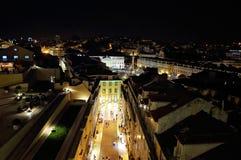 Rossio fyrkant, Lisbon arkivbilder