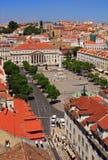 Rossio fyrkant, Lisbon. Royaltyfri Fotografi