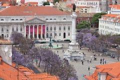 Rossio fyrkant, Lisbon royaltyfria bilder