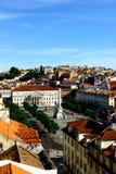 Rossio fyrkant, Lisbon, Portugal Fotografering för Bildbyråer