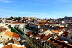 Rossio Lisbon, Portugal Royaltyfria Bilder
