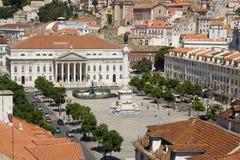 Rossio, Lissabon Lizenzfreies Stockbild