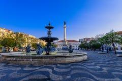 Rossio-Quadrat in Lissabon Lizenzfreies Stockbild