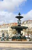 Rossio Quadrat, Lissabon, Portugal Stockbilder