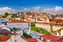 Rossio-Quadrat von Lissabon stockfoto