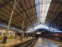 Rossio Railway Station in Lisbon Royalty Free Stock Photos