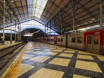 Rossio Railway Station in Lisbon Royalty Free Stock Images